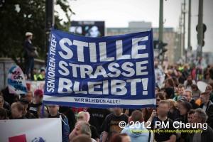 Demonstration 'Vier Jahre Bürgerentscheid – Spreeufer für alle!' am 14.07.2012 in Berlin