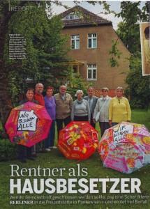 Rentner als Hausbesetzer (Hörzu)